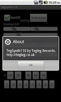 Screenshot of TegSynth110