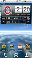Screenshot of Ohio State Buckeyes Live Clock