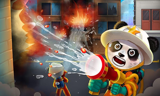 City Hero - Panda Firefighter