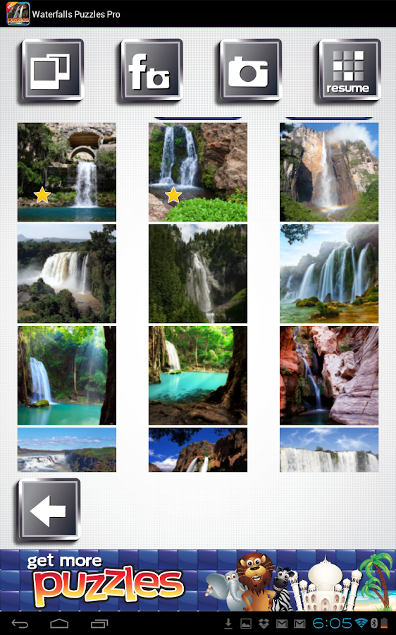 Waterfalls Puzzles - Free - screenshot