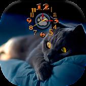 Kitten Live Wallpaper Clock