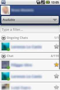 myChatDroid for Facebook Chat - screenshot thumbnail