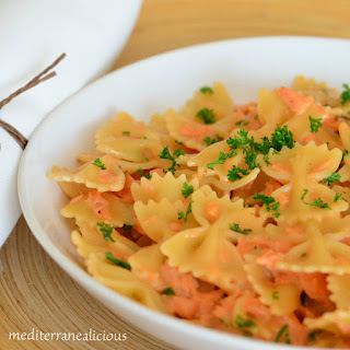 Farfalle Pasta With Salmon Recipes.