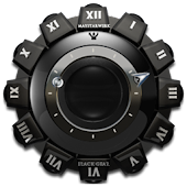 Clock Widget Black Gear