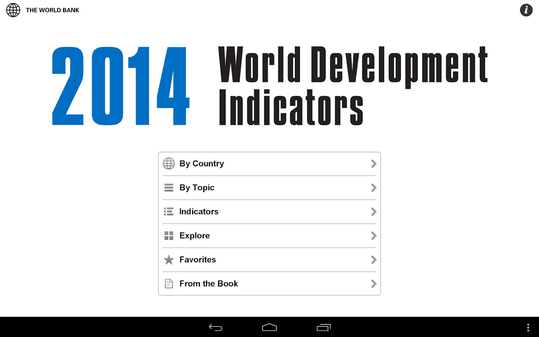 World Bank DataFinder - screenshot