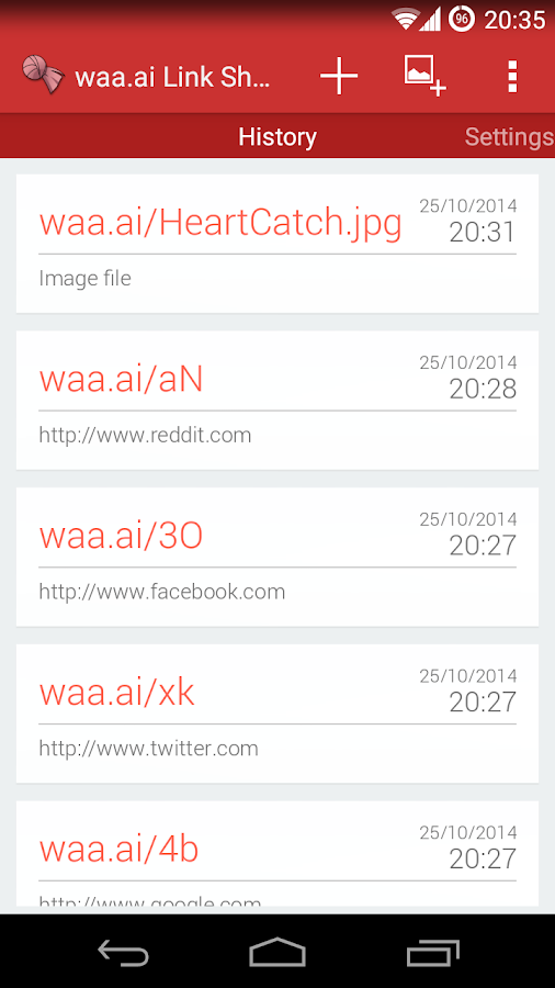 waa.ai Link Shortener- screenshot