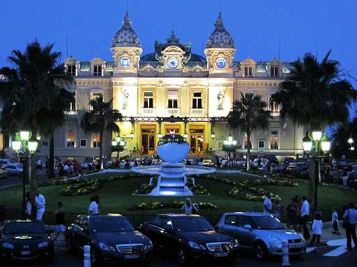 Grand-Casino-Monte-Carlo-at-night - The rich and wannabe-rich come out to play at Europe's most famous casino in Monte Carlo.