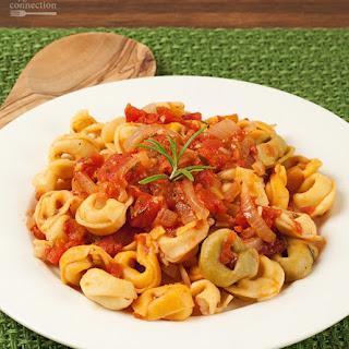 Tortellini with Rosemary-Tomato Sauce.