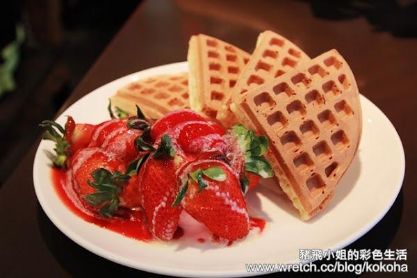 東區咖啡弄~來朝聖草莓鬆餅囉