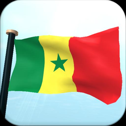 Senegal Flag 3D Free Wallpaper