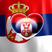 Love Serbian Flag LWP