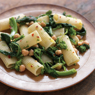 Rigatoni with Broccoli Rabe and Chickpeas.