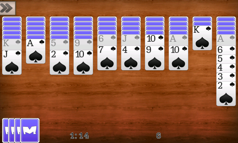 Screenshots of Spider Solitaire for iPhone