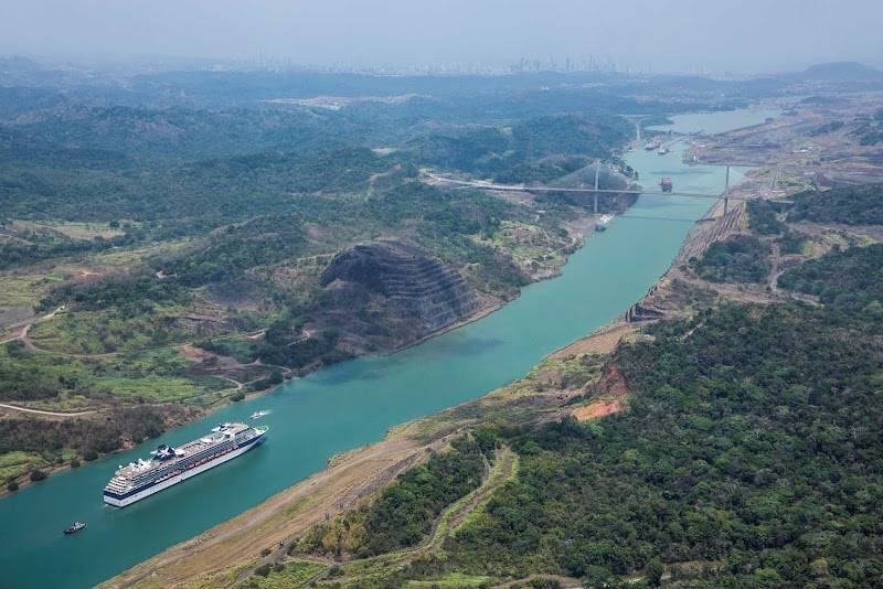 Celebrity Infinity cruises through the Panama Canal, one of its signature sailings.