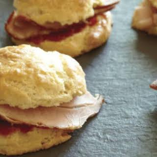 Ham Biscuit Sliders With Hot Pepper Jam.