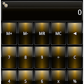 SCalc Dusk Gold theme