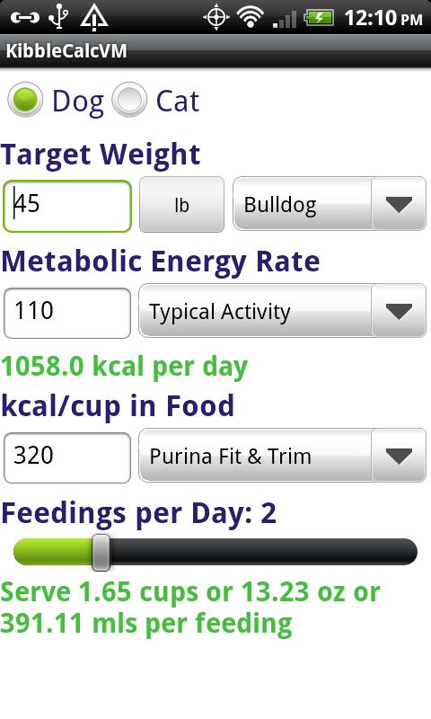 KibbleCalcVM Lite- screenshot