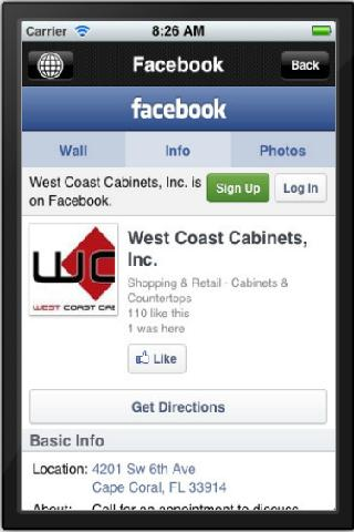 West Coast Cabinets - screenshot