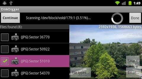 DiskDigger photo recovery Screenshot 26