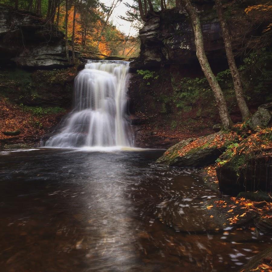 Sullivan Falls, 2014.10.18 by Aaron Campbell - Instagram & Mobile iPhone ( pawilds, sullivanfalls, iphone5s, autumn, waterfall, pennsylvania, october, sgl13, sullivancounty )