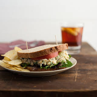 Chickpea, Blue Cheese, and Grape Salad Sandwich.
