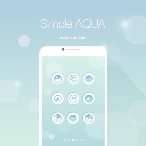Aqua Buzz Launcher Theme