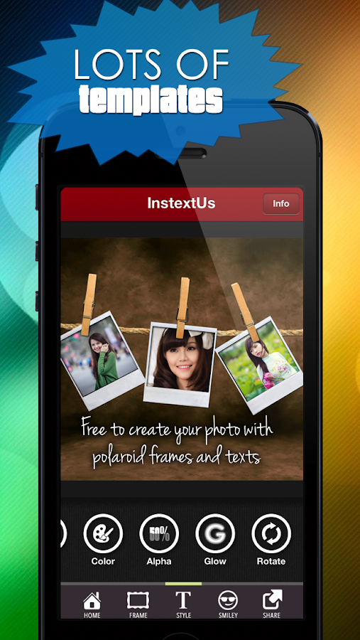 InstextUs - TEXT for Instagram - screenshot