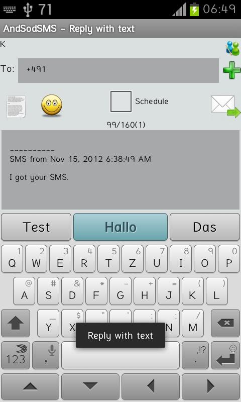 AndSod SMS - screenshot