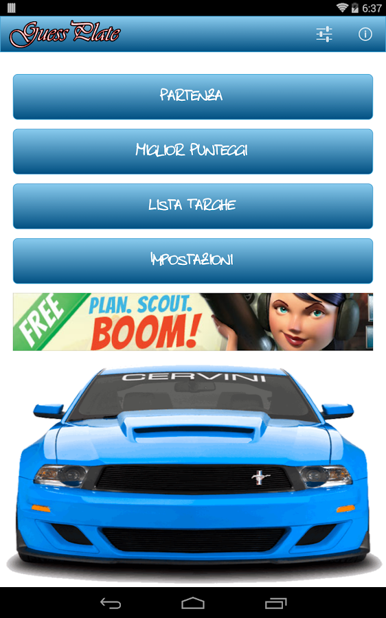 Guess License Plate - screenshot