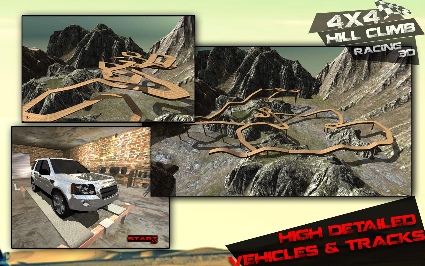 4x4 Hill Climb Racing 3d - screenshot