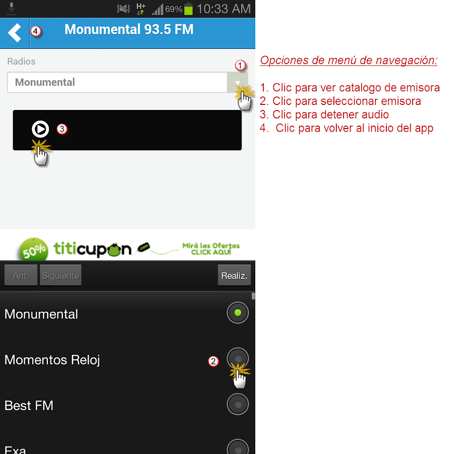 Radio Monumental 93.5 FM - screenshot