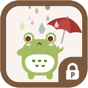 Frog in the rain protector