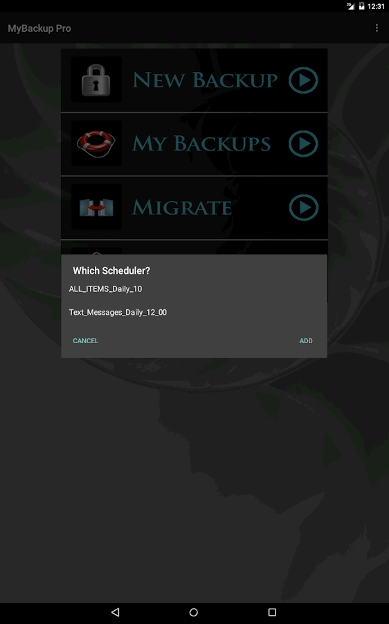 My Backup Pro – Capture d'écran