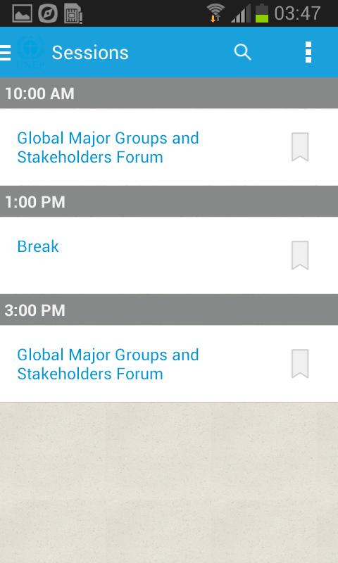 UNEP Events - screenshot