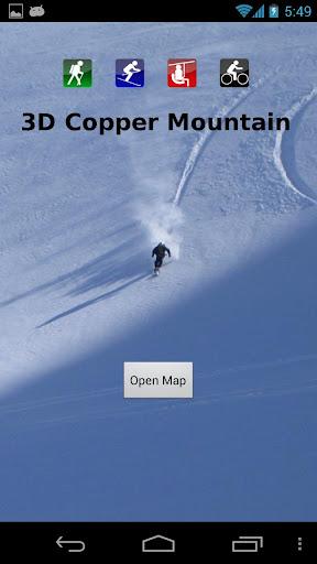 3D Copper Mountain Trail Map