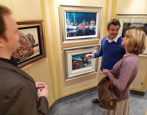 Cunard-Queen-Elizabeth-Clarendon-art-gallery - Browse contemporary artworks aboard Queen Elizabeth in the art gallery through Cunard's partnership with London's Clarendon Fine Art Gallery.