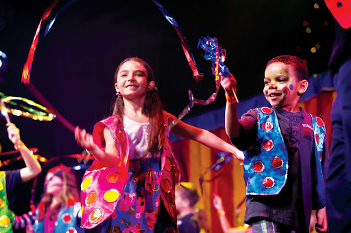 Norwegian-Cruise-Line-Circus-Parade - Your kids can be part of a special Circus Parade as part of the children's activities in Splash Academy during your vacation on Norwegian Cruise Line.