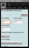 Screenshot of Air Conditioner & Heater