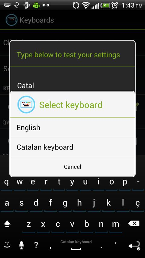 Catalan Keyboard for iKey - screenshot