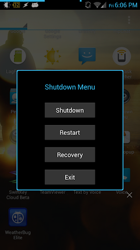 Shutdown Menu 2.1 Root