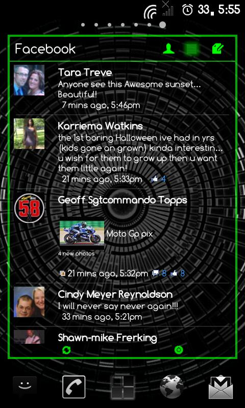 APW Theme DarkWidgetsGreen - screenshot