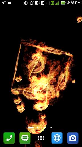 音樂起火3D壁紙