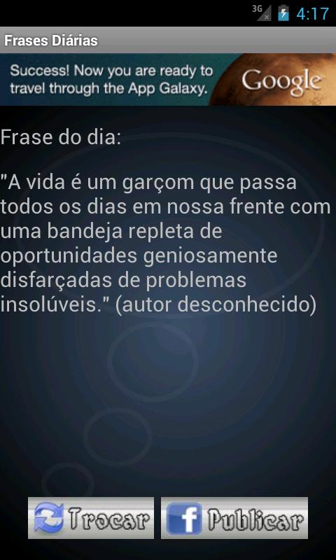 Frases diárias - screenshot