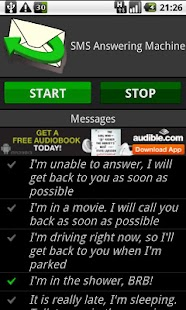 SMS Answering Machine Free - screenshot thumbnail