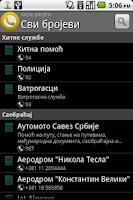 Screenshot of Vazni brojevi Srbija