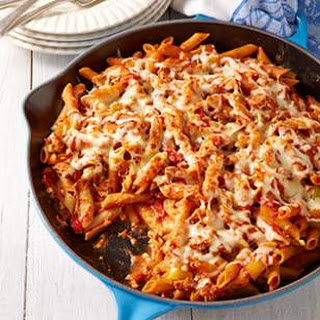 Sausage & Peppers Baked Ziti.