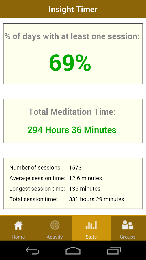 Insight Timer Meditation Timer- screenshot