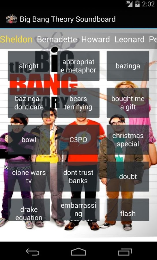 The Big Bang Theory Soundboard - screenshot