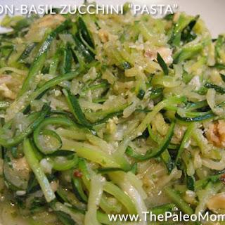 "Bacon-Basil Zucchini ""Pasta"""