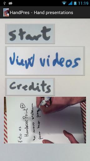 HandPres - Hand presentations
